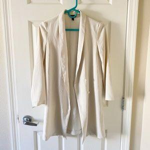 Topshop white long blazer